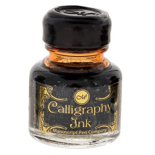 Kalligrafie inkt sepia