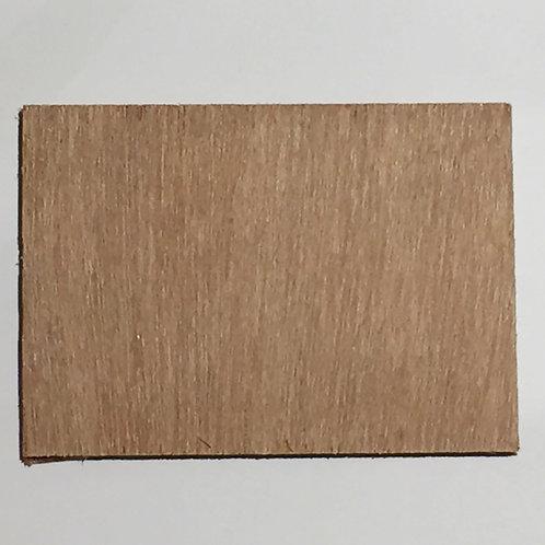 Houten plankje 7x5 cm donker