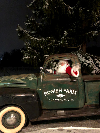 Santa Driving the Truck
