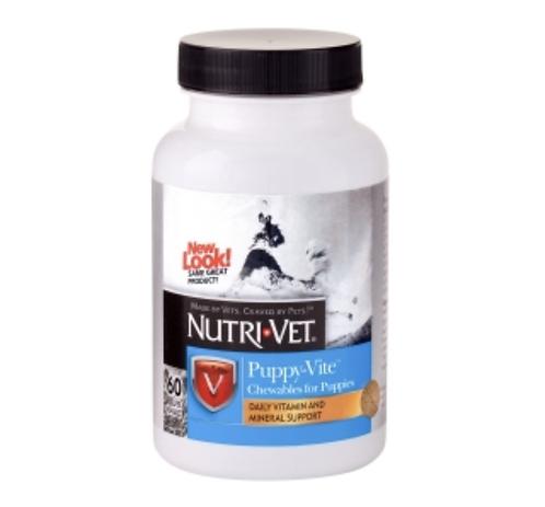 נוטרי וט ויטמינים לגורי כלבים - 60 כמוסות Nutri Vet Puppy-Vite Chewables