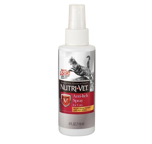 """נוטרי וט ספריי נגד גירודים לחתולים 118מ""""ל nutri vet anti-itch spray for cats"""