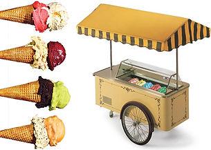 דוכני מזון אוכל עמדת גלידה