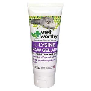 ג'ל ליזין לטיפול בהרפס לחתולים  85 גרם L-Lysine Paw Gel Aid