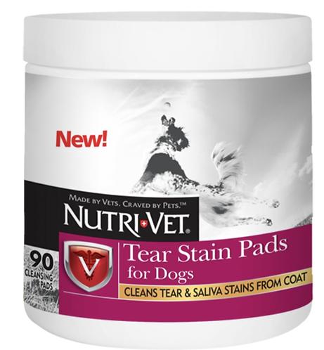 פדים לניקוי דמעות לכלב Dog Ear Cleaners and Eye Drops for Dogs Nutri-vet