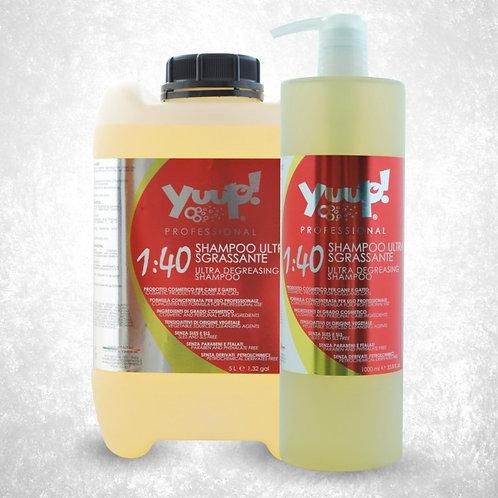 1:40 Degreasing shampoo שמפו לפרווה שומנית או מלוכלכת