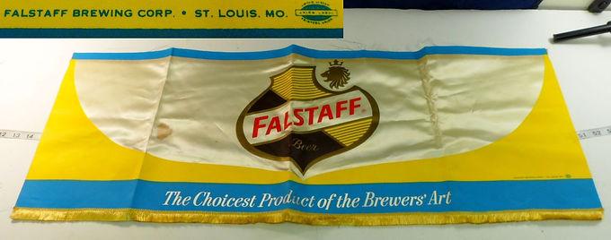 Falstaff Beer Banner 13in X 36in