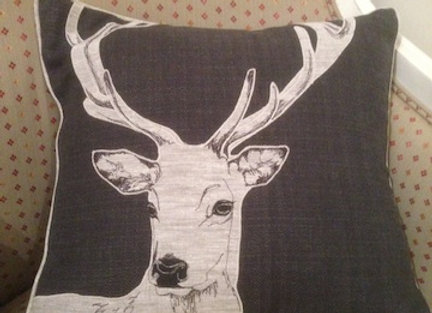 Monochrome Stag Cushion