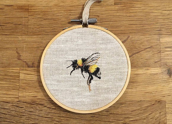 Bee Study I Embroidery