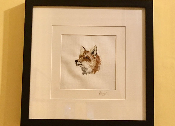 Red Fox Free Machine Embroidery SOLD