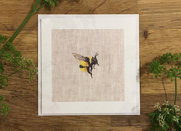 Bee Study II Greetings Card
