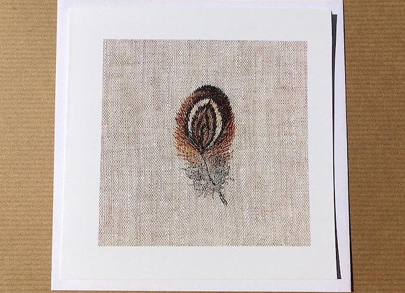 Feather Study 3 Greetings Card