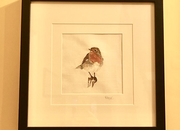 Robin Free Machine Embroidery SOLD
