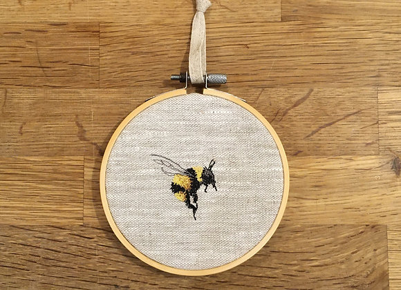 Bee Study II Embroidery