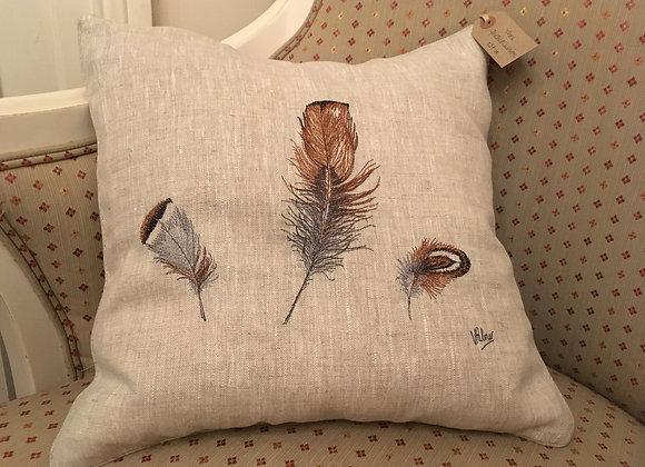 Three Feathers Cushion