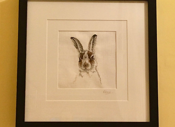 Mountain Hare Free Machine Embroidery