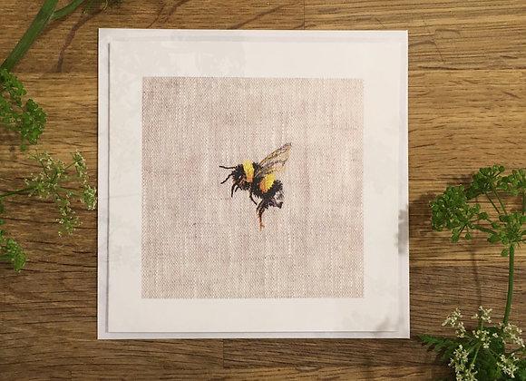 Bee Study I Greetings Card