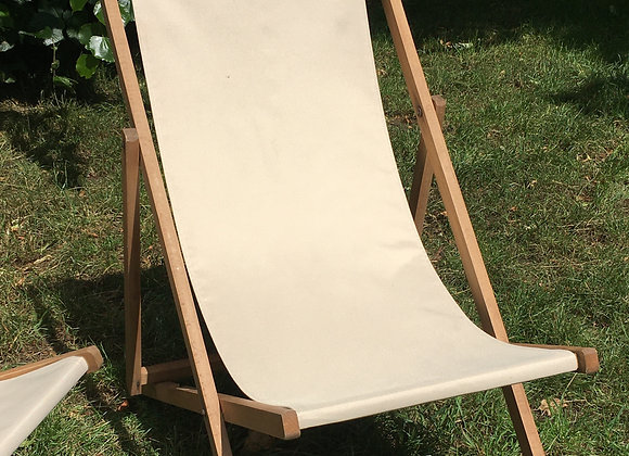 Vintage Garden Deckchairs with Bee Embroidery *SOLD*