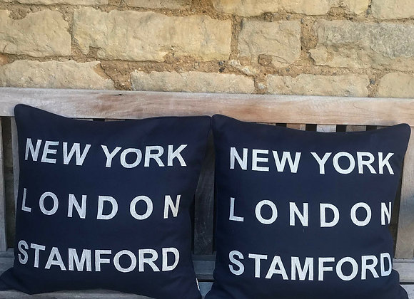 New York- London-Stamford Cushion