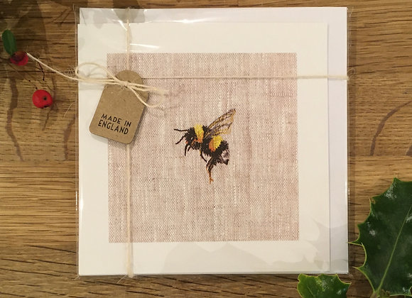 Pack of Four Bee Study Greetings Cards