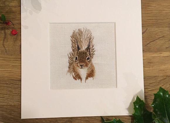 Fine Art Giclee Red Squirrel Print