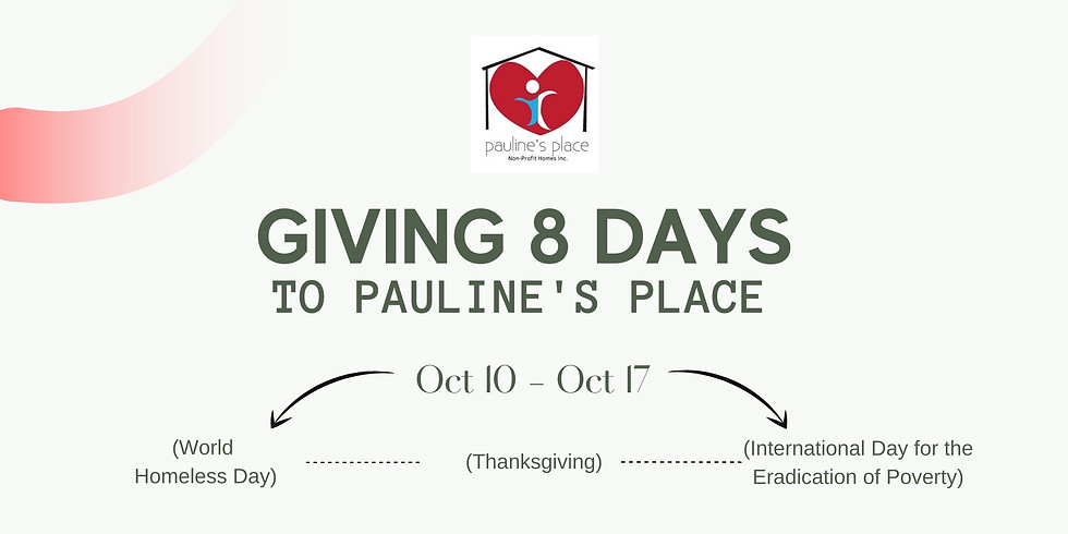 Giving 8 Days to Pauline's Place