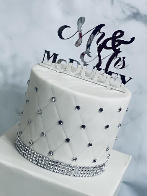 Custom Cake Topper-Acrylic Cake Topper