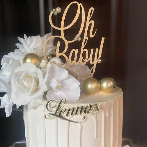 Acrylic Cake Charm