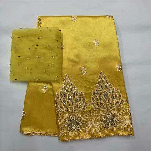 Tissu dentelle  George africaine nigériane brodé