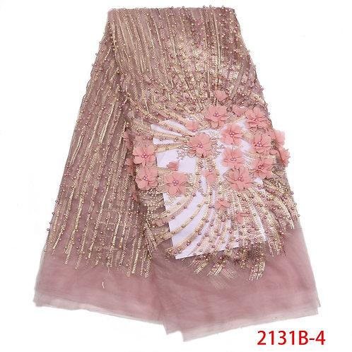 3D Net  tissus  haute qualité Tulle dentelle africain perlé mariage