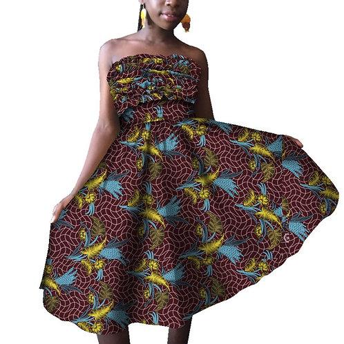 femme robe africaine soirée Style modèles au-dessus du genou a élastic