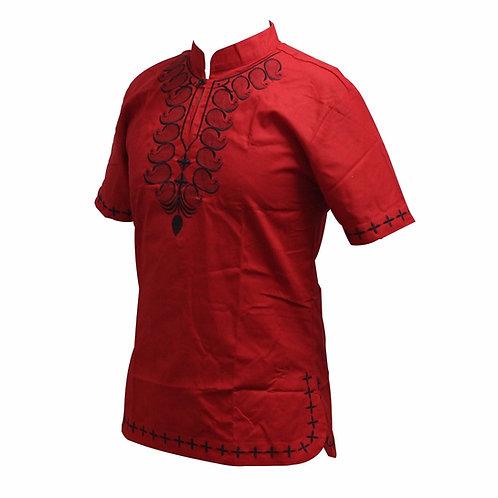 dashiki man chemise brodé simple model 02