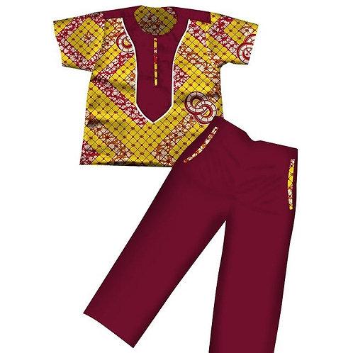 garçons africain Dashiki enfants vêtements manches courtes Plus solide