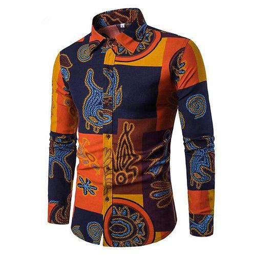 Style ethnique Hommes Chemises à manches longues ref 02