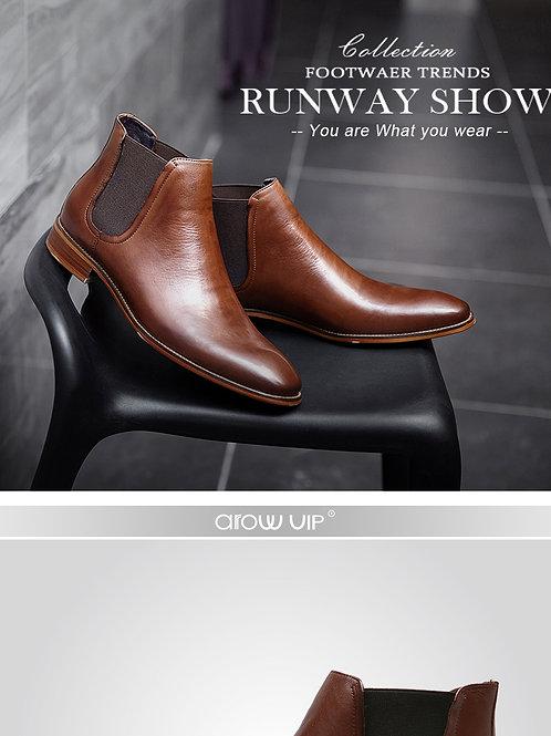 chaussure homme de luxe  botte en cuir