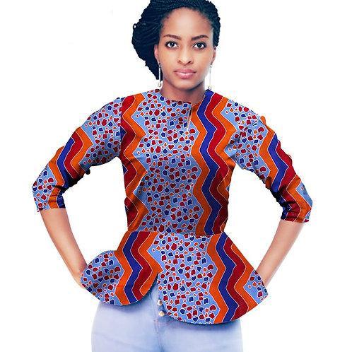 femme Haut afro dashiki style manche longue CL1