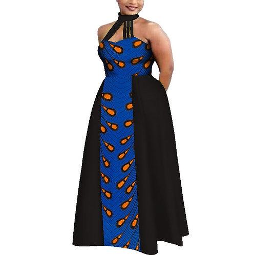 robe Mode d'été Patchwork africain cire imprimer