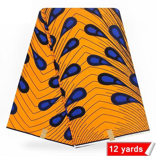 wax prints tissu super cire hollandais 100% coton ref01