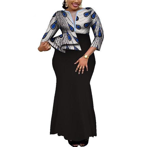 Ankara imprimer longues robes de soirée vêtements traditionnels africains WY4