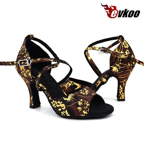 Evkoodance Satin Latino Chaussures Talon Hauteur