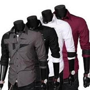 mode Camisa Masculina chemise à manches longues