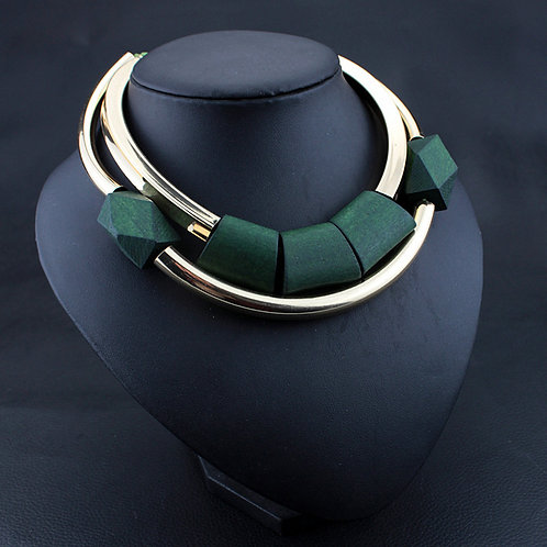 femme collier Vintage Bois Perles Pendentif  Initial