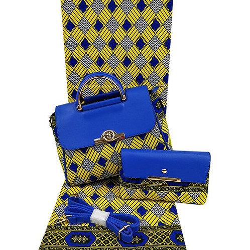 6m cire à la main sac et tissu ensemble pour la mode