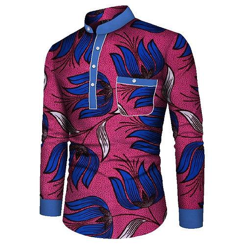Chemise à manches longues pour hommes Bazin vêtements africains traditionnelsGG