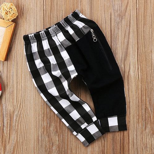 Garçons Plaid Zipper Bas Pantalon Culotte Sarouel
