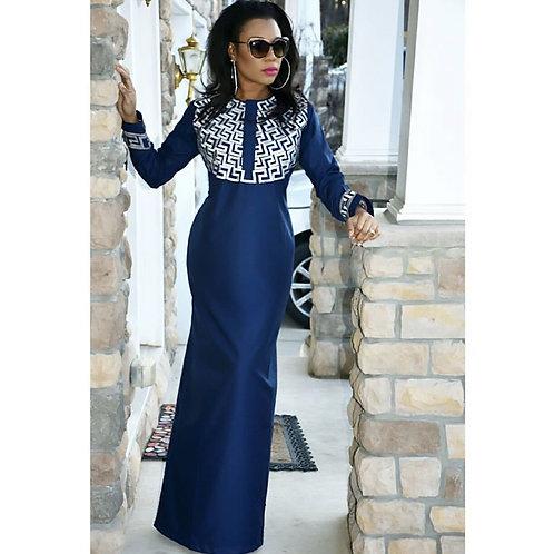 femme robe richic top model longue