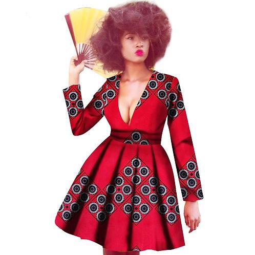 Femme robe afro bazin riche richic imprimé R1