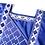 Thumbnail: homme 3 pieces agbada bleu brodé royal afro