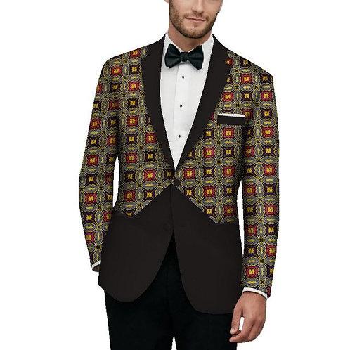 veste homme richic model marié imprimé tissu