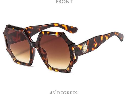 femmes de luxe lunettes de soleil surdimensionné coloré dégradé lunettes d