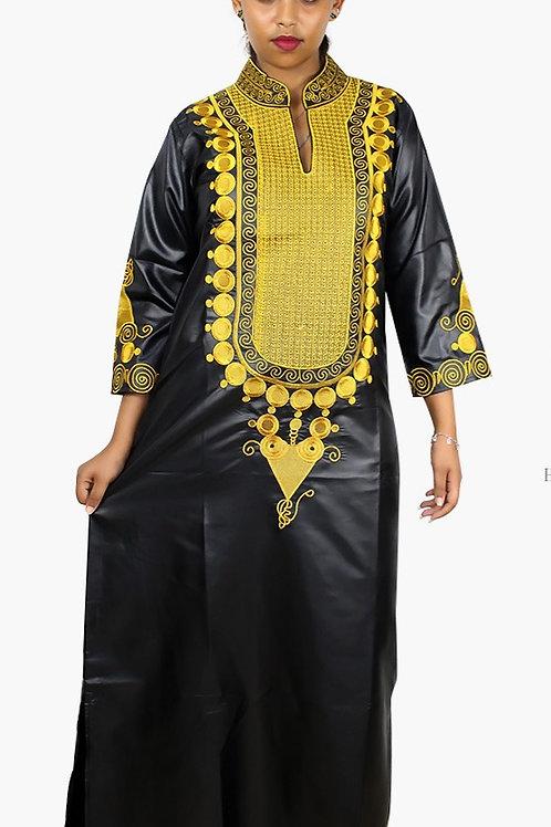 femmes africaines Dashiki Robes bazin riche  ref08L